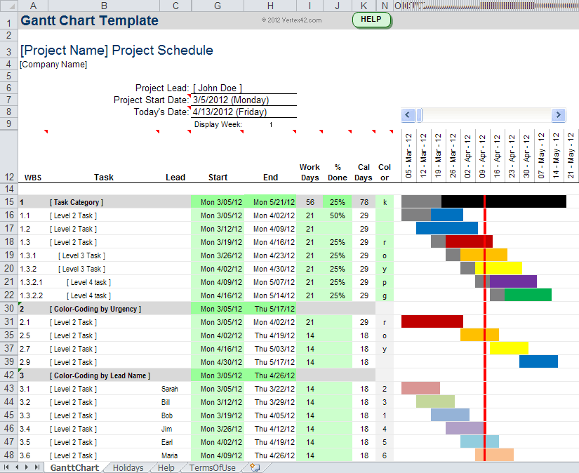 Excel Gantt Chart Template Monthly And Excel 2010 Gantt Chart Template Download