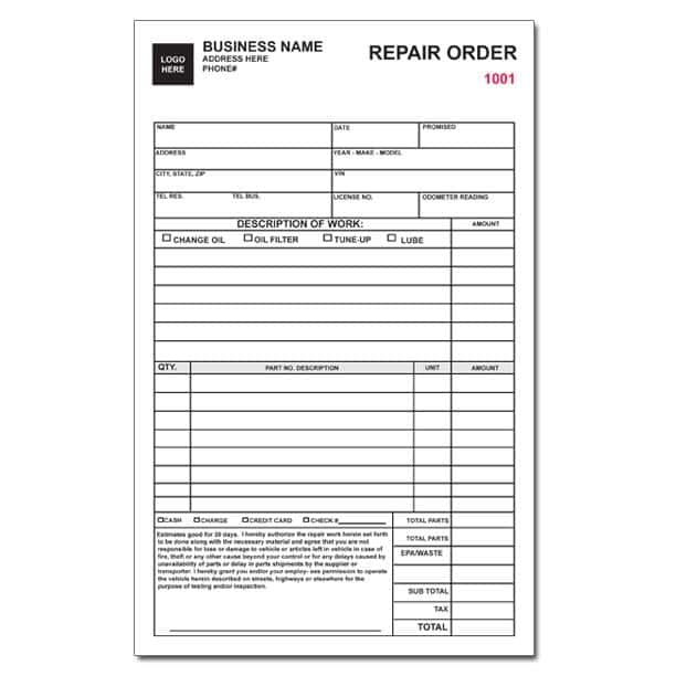 Free Auto Repair Invoice Template And Auto Repair Invoice Template Excel