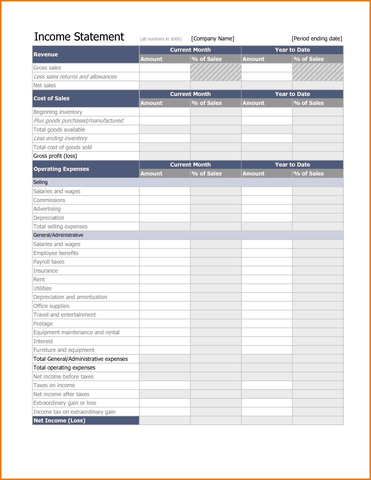 Free Personal Financial Statement Template Word And Personal Financial Statements Sample