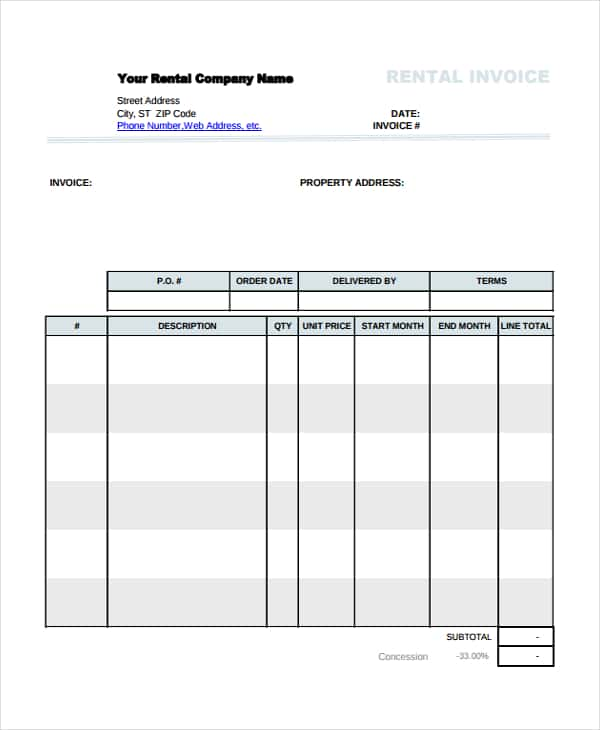 House Painting Invoice Template And Painting Tax Invoice Template