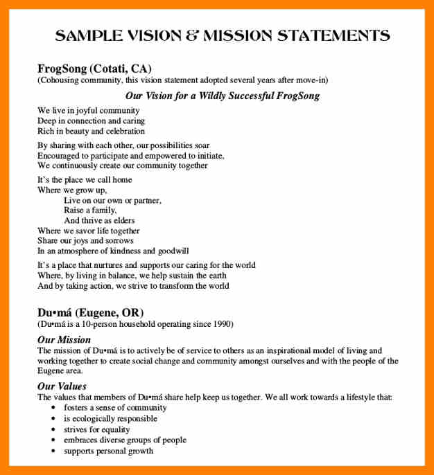 Spiritual Mission Statement Examples And A Christian Mission Statement