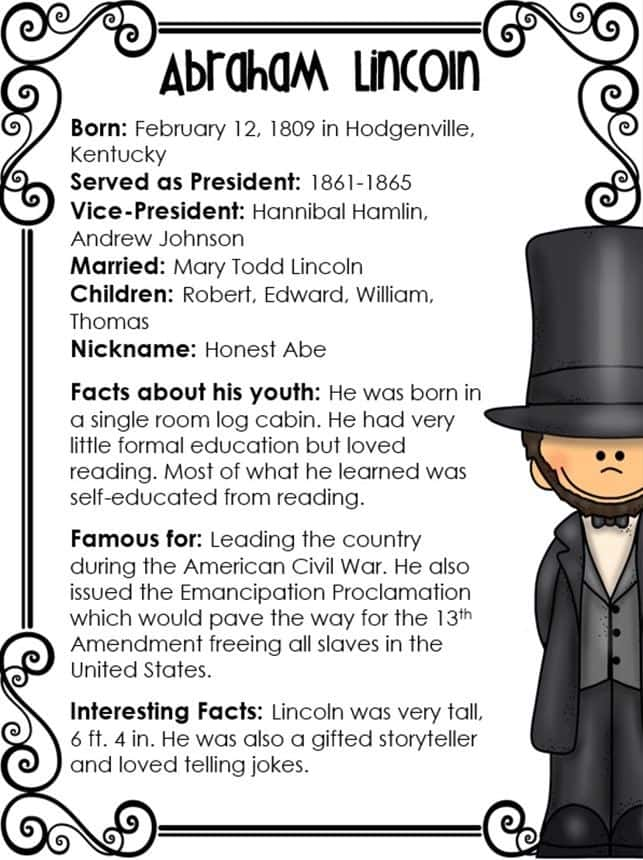 Abraham Lincoln Comprehension Worksheet 2Nd Grade And Abraham Lincoln Worksheets Middle School
