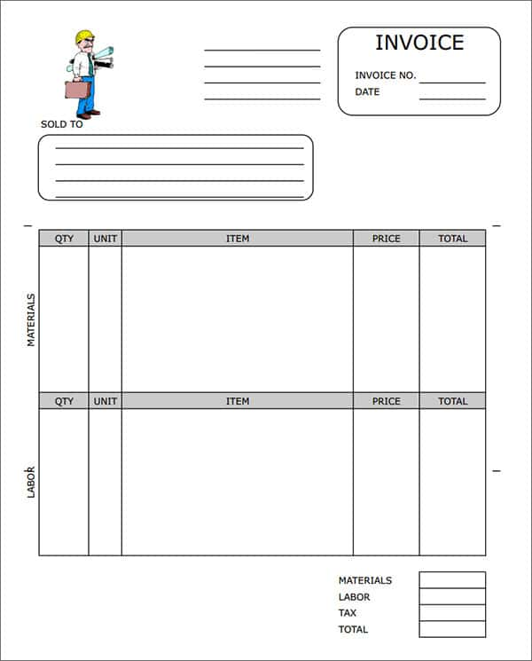 Blank Billing Invoice Template Pdf And Time Billing Invoice Template
