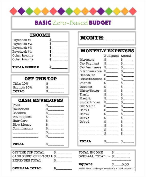 Easy Family Budget Worksheet And Family Budget Worksheet