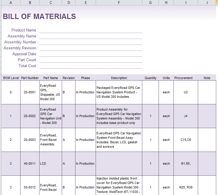 First Robotics Bill Of Materials Template And Access Bill Of Materials Database Template
