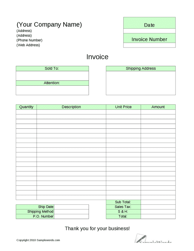 Free Office Cleaning Invoice Template And House Cleaning Invoice Sample