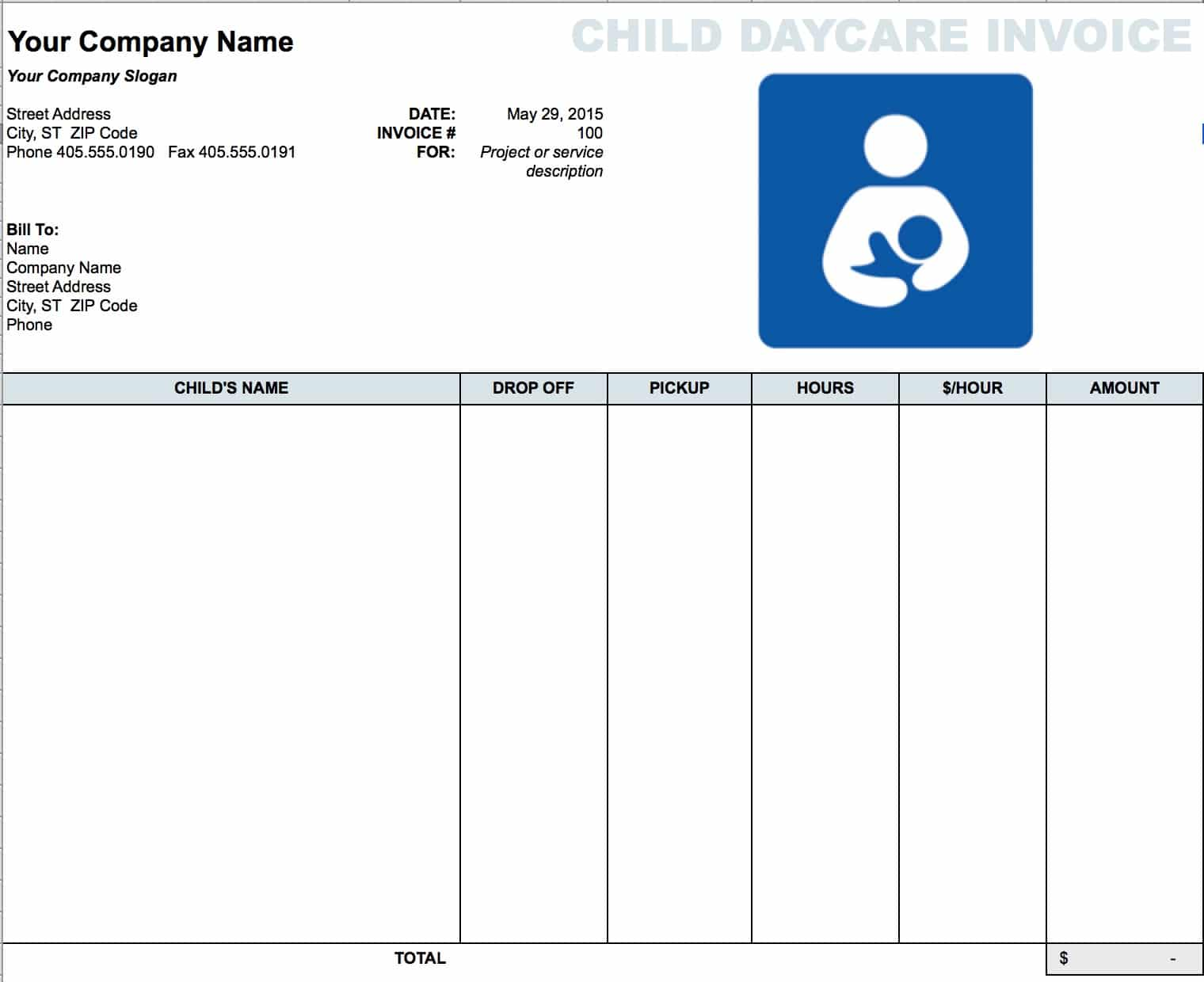 Home Care Service Invoice And Caregiver Invoice