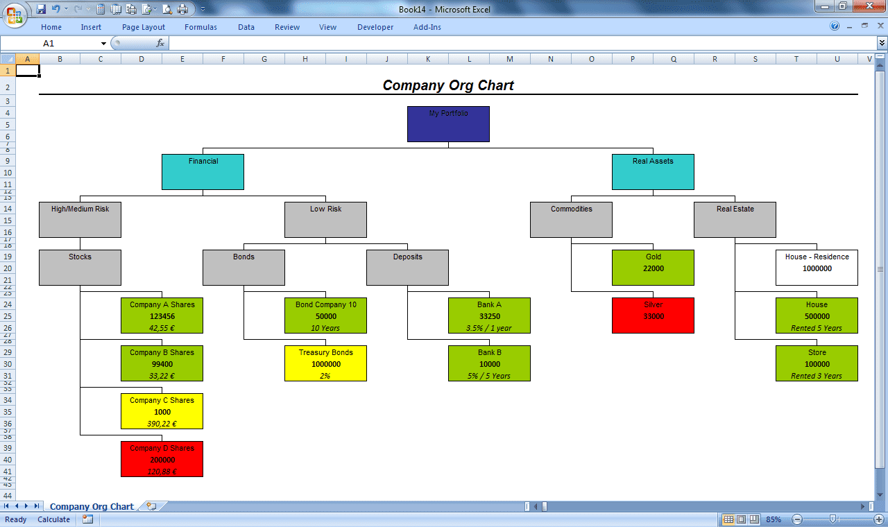 How To Make An Organizational Chart In Excel And Office Organizational Chart Template