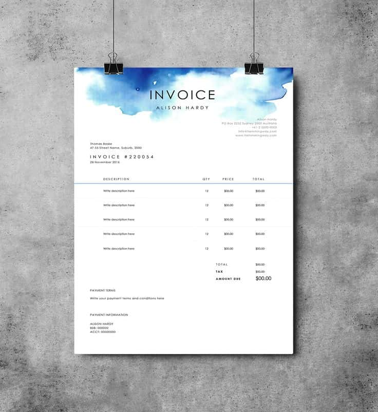 Invoice Template For Freelance Designers And Invoice Template Design Software