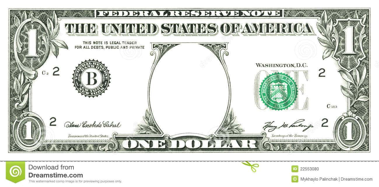Million Dollar Bill Template Photoshop And Free Printable Million Dollar Template