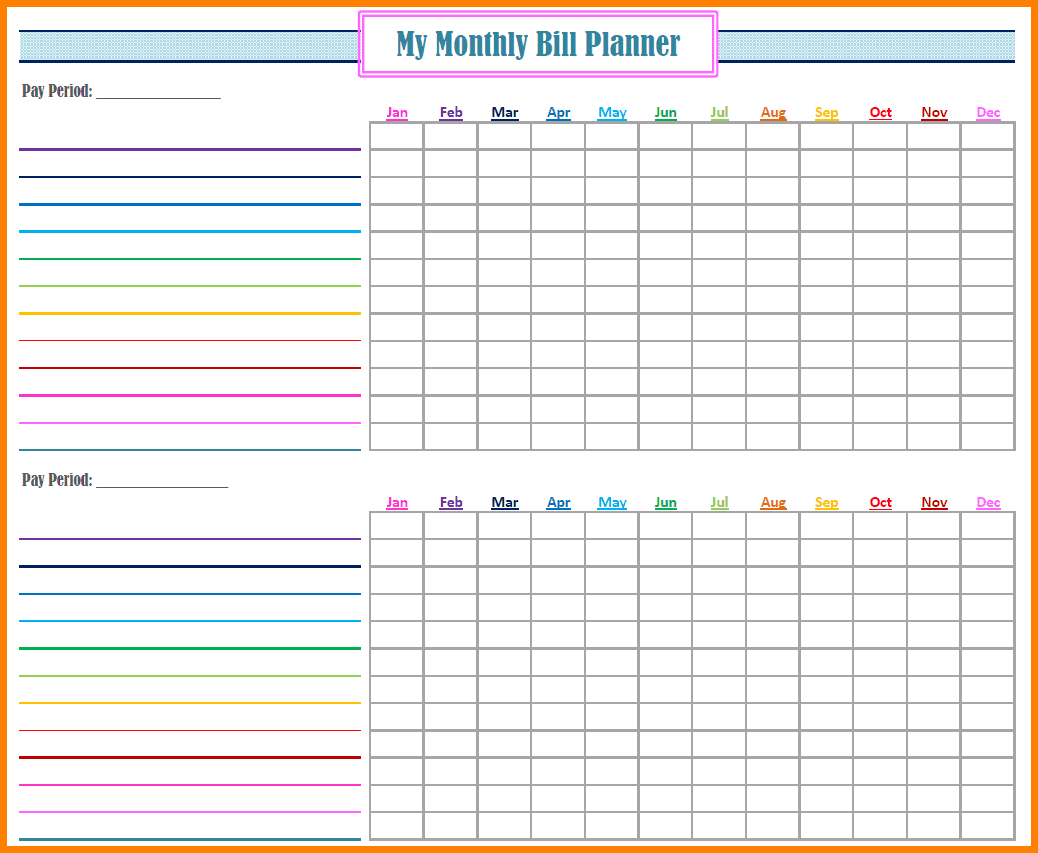 Printable Bill Pay Checklist And Printable Expense Tracker Template