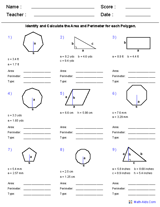 10Th Grade Geometry Worksheets Pdf And High School Math Worksheets Printable