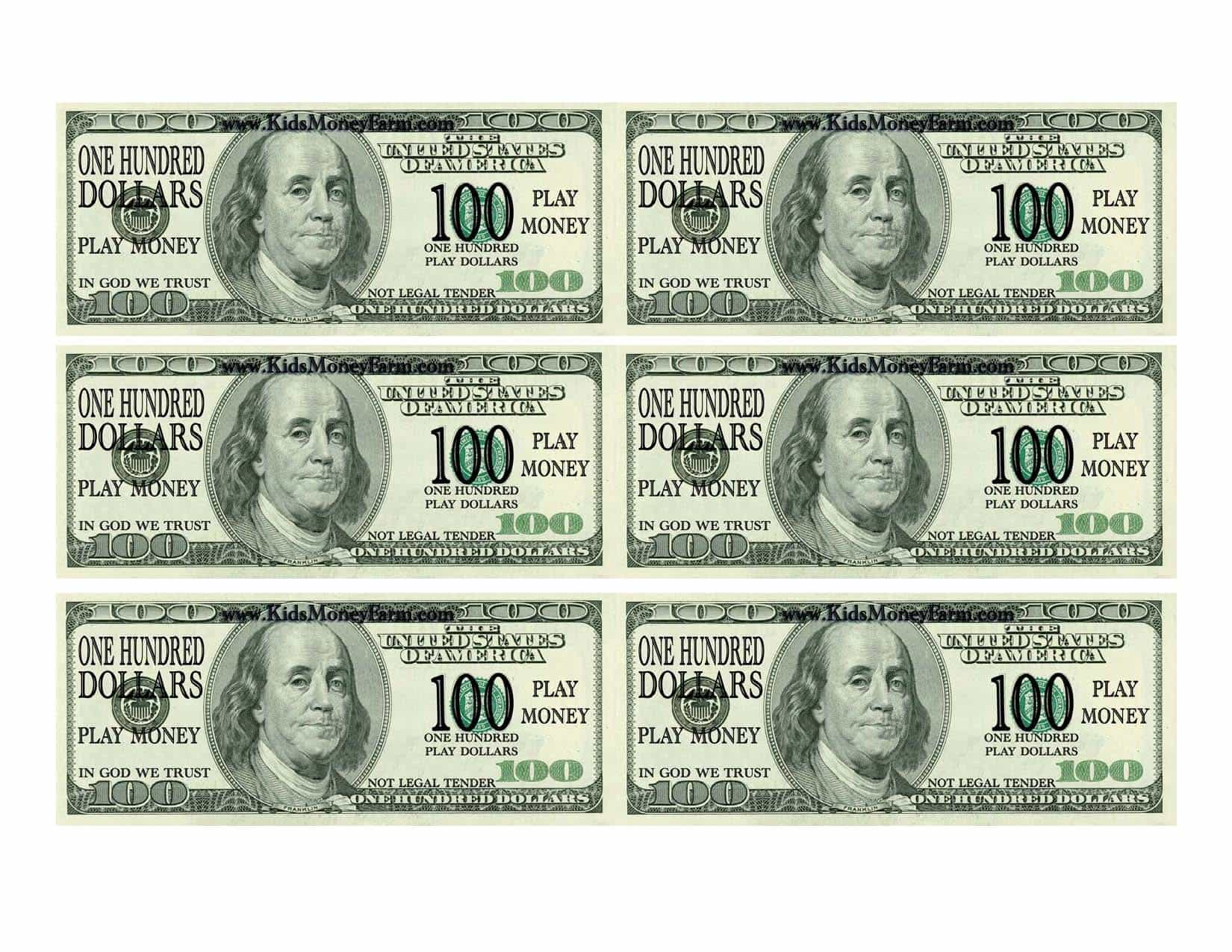 Dollar Bill Template Microsoft Word And Picture Of A 50 Dollar Bill