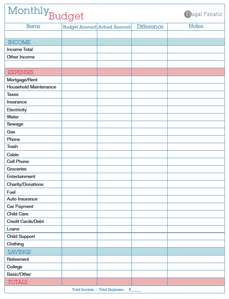 Download Free Budget Planner Worksheet And Weekly Budget Template