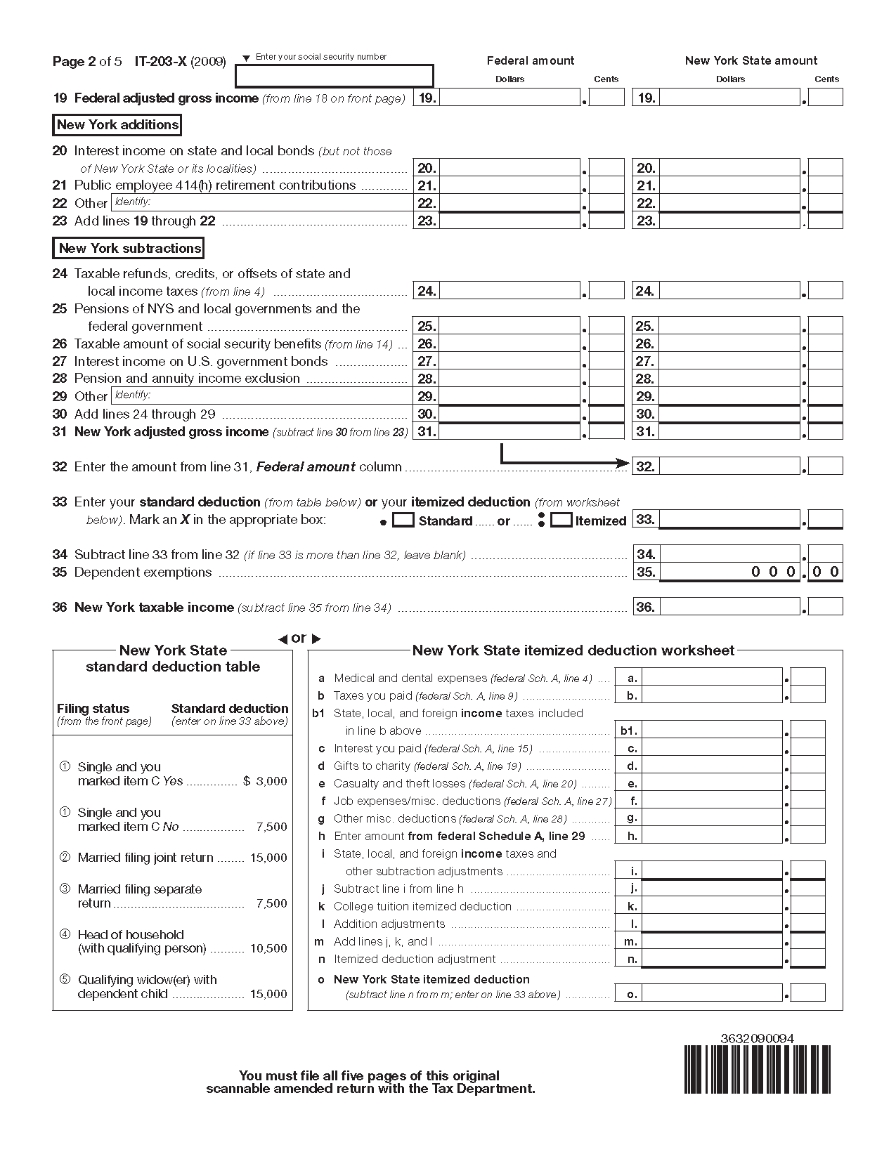 Federal Tax Worksheet And Federal Tax Social