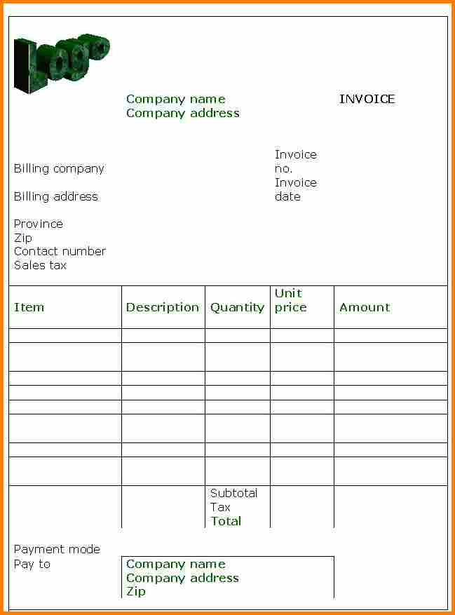Free Hotel Invoice Template Download And Fake Hotel Bill Template