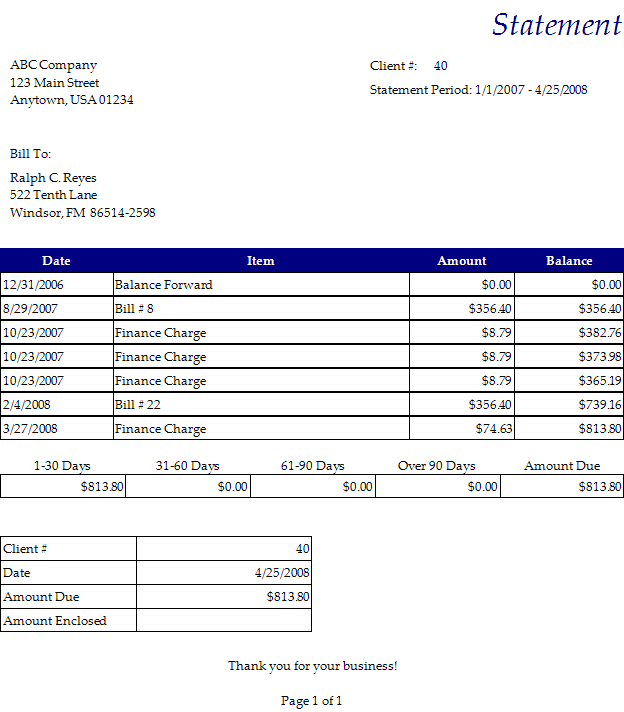 Free Microsoft Billing Statement Template And Simple Invoice Template Excel