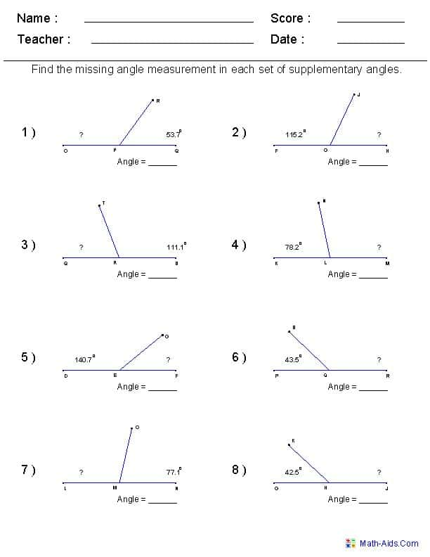 Free Printable Geometry Worksheets For High School And Fun Geometry Worksheets High School