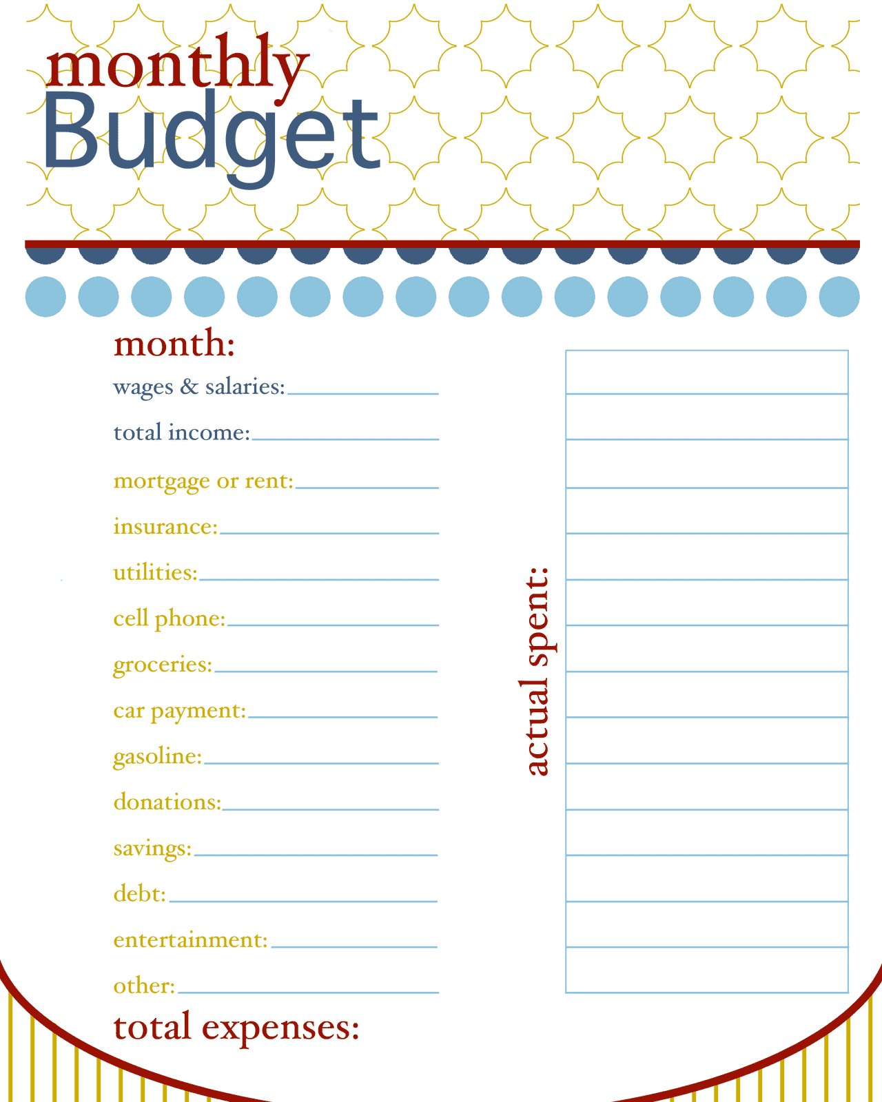 Household Budget Sample Worksheet And Household Budget Worksheets Printable