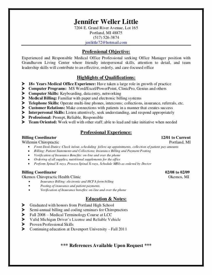 Medical Billing And Coding Job Description For Resume And Medical Coding Examples
