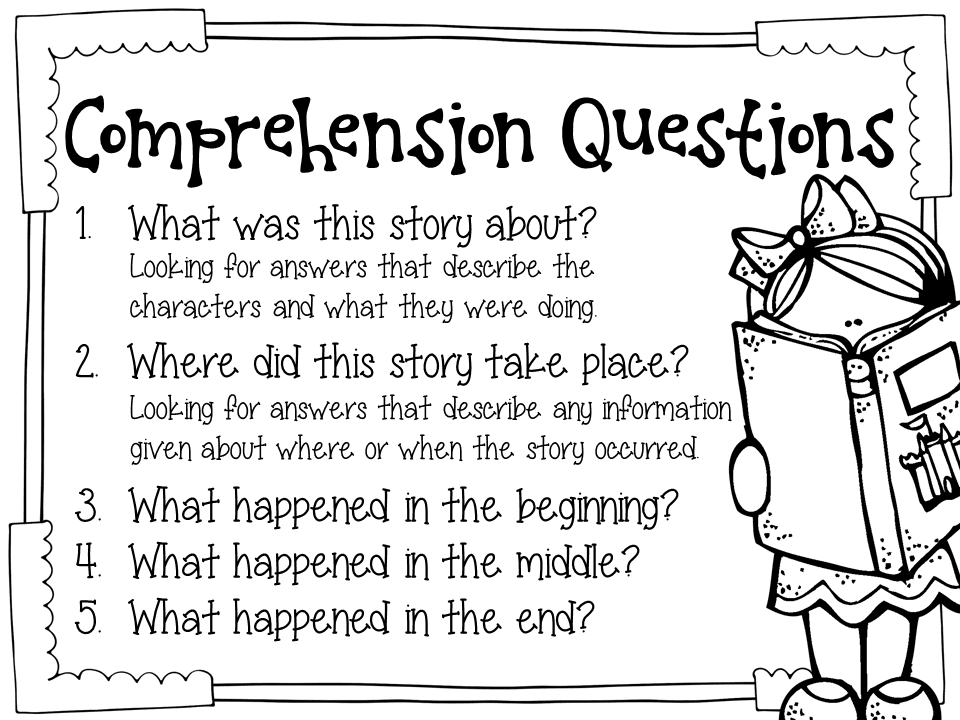 Comprehension story and questions and reading comprehension worksheets with multiple choice questions