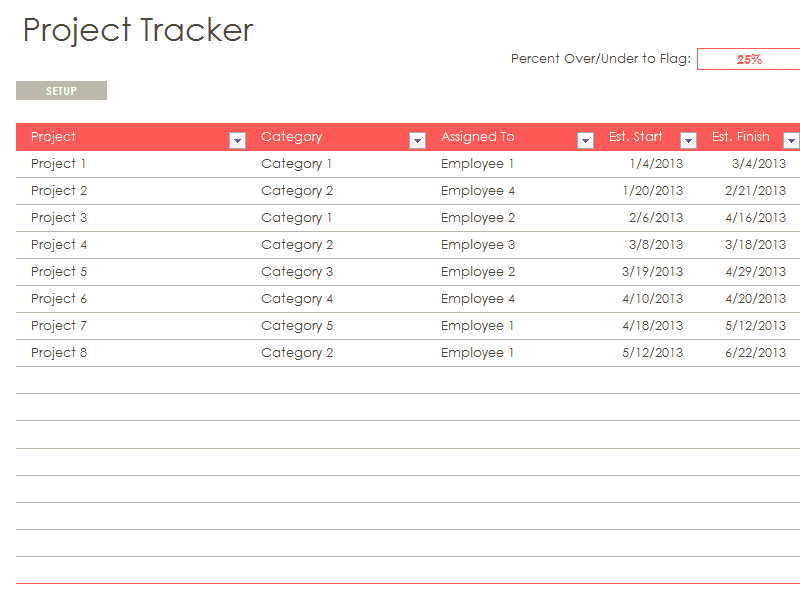 Excel template for multiple project tracking and free excel template for project tracking