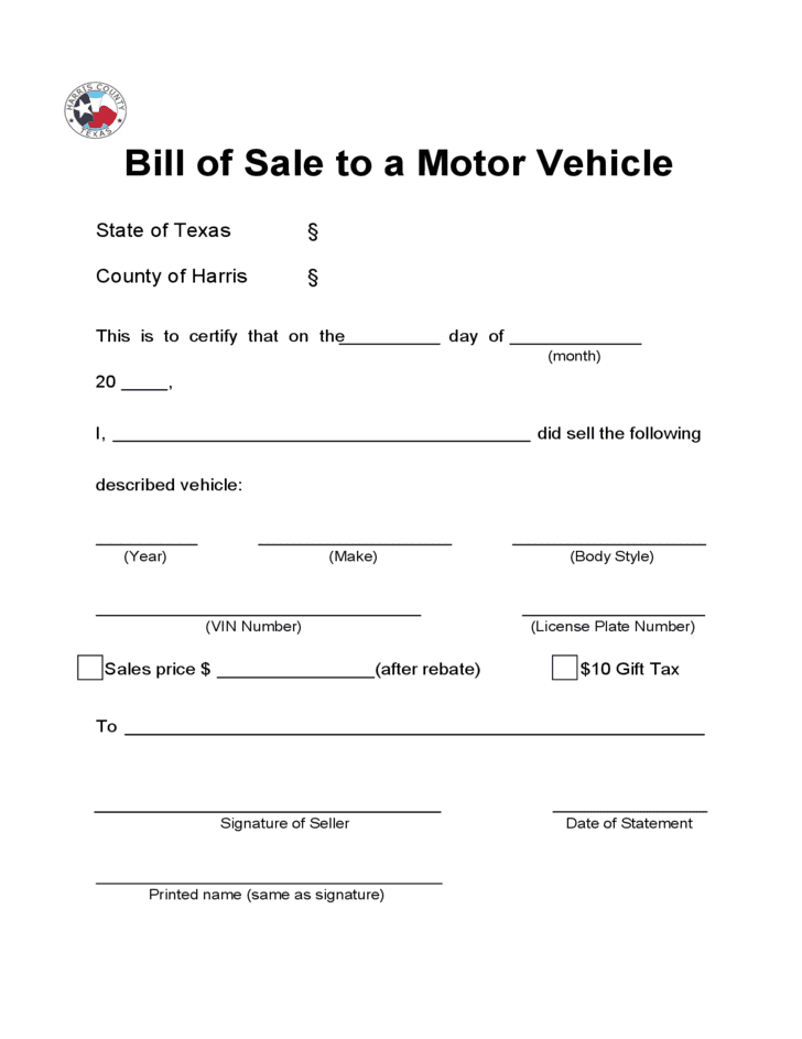Free printable bill of sale form for atv and dirt bike bill of sale template