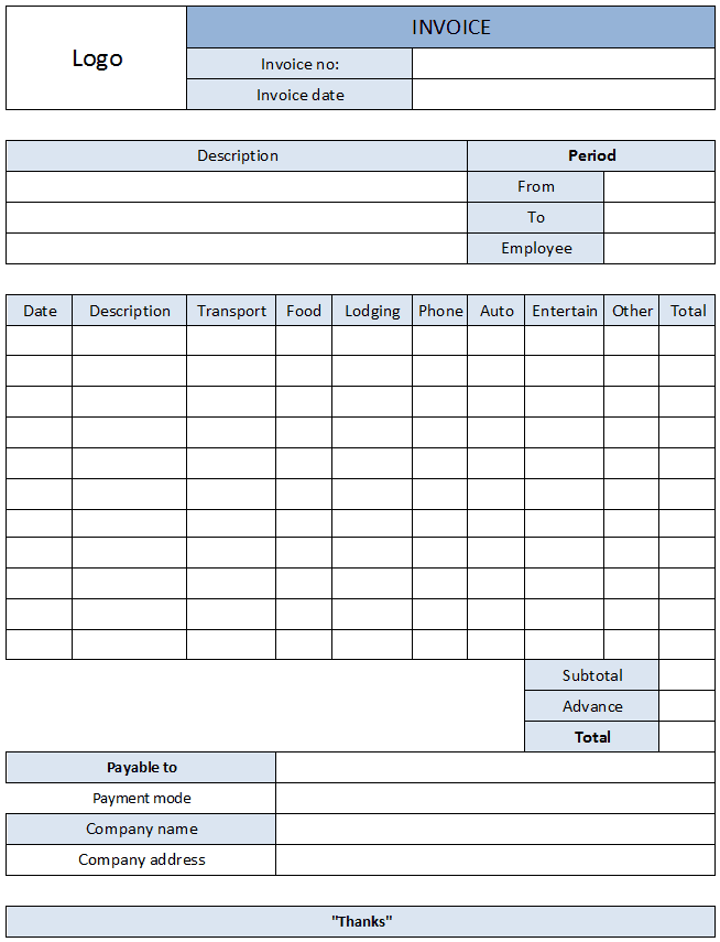 Business Purpose Expense Report Examples And Expense Report Pdf