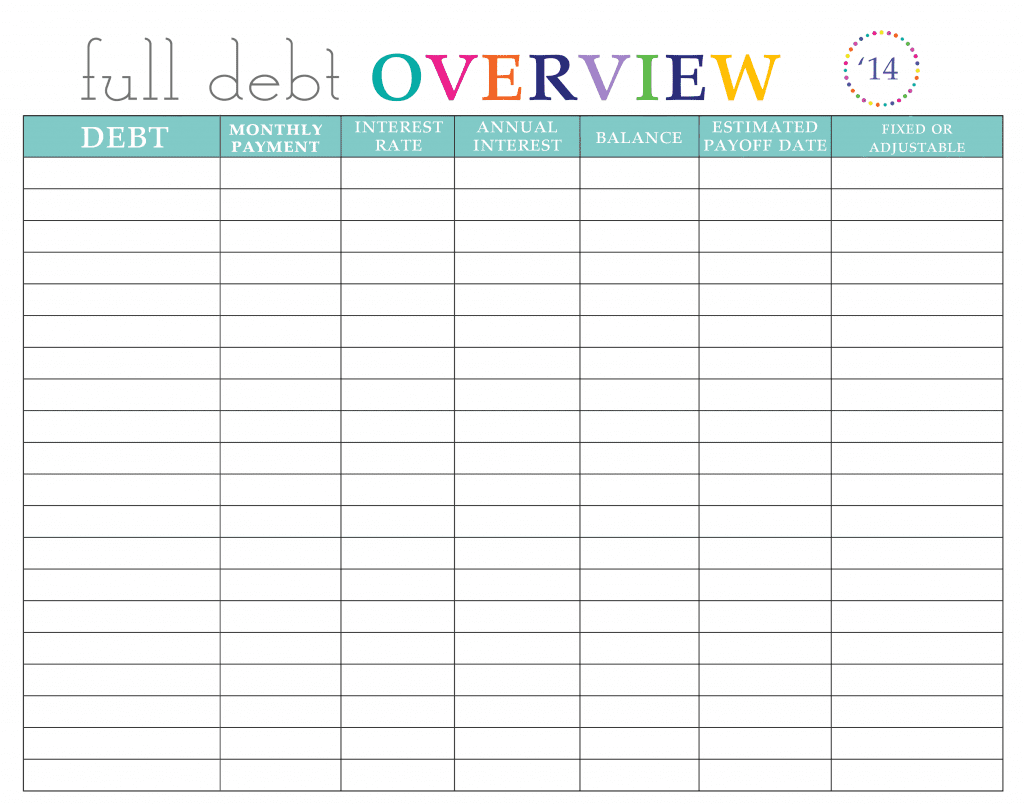 Debt consolidation excel spreadsheet and debt worksheet printable