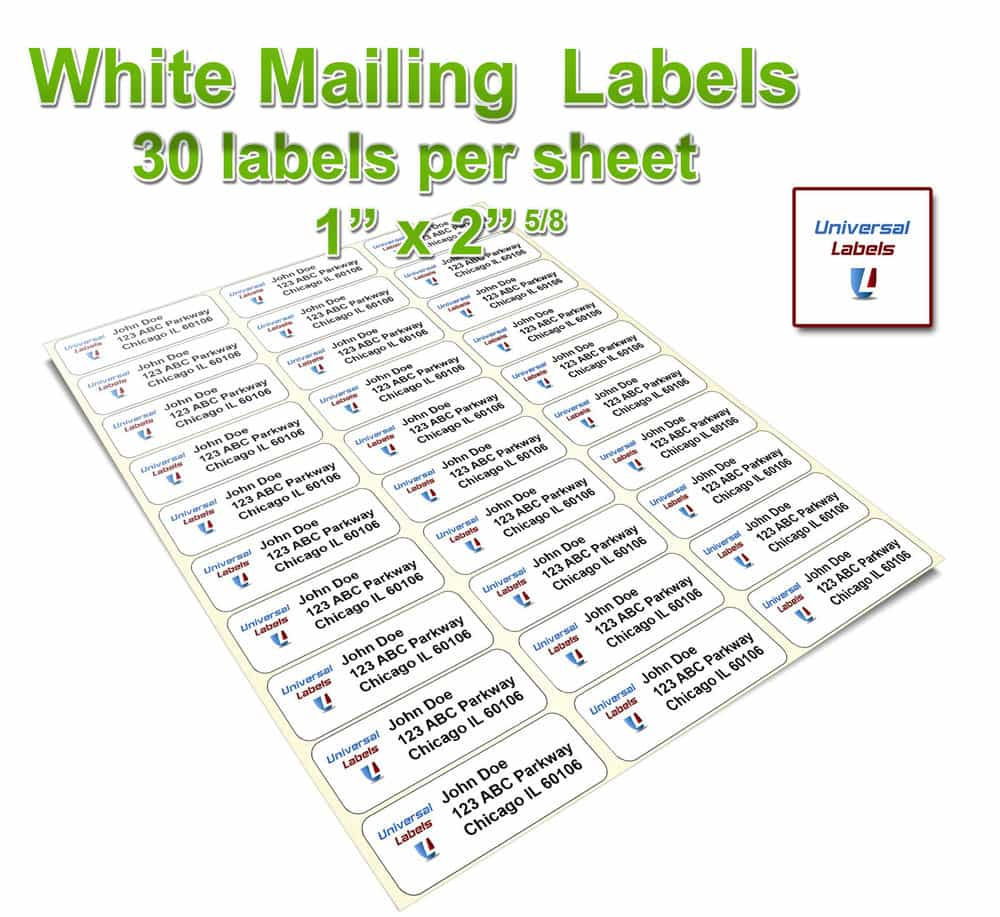 Free Address Label Templates And Free Label Template 30 Per Sheet