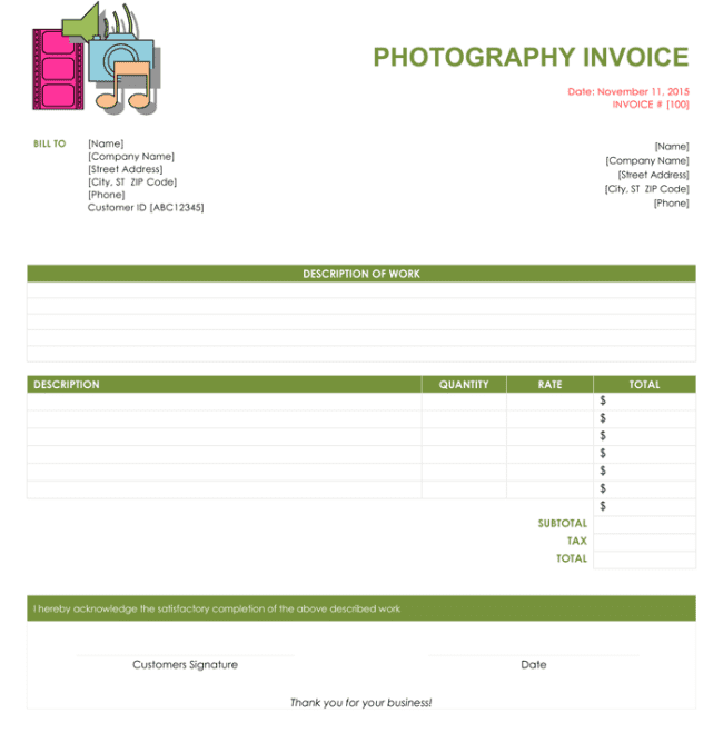 Free Online Invoice Templates For Word And Blank Invoice Template Free