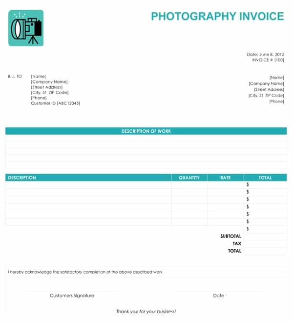 Free Online Sales Invoice Templates And Easy Printable Invoice