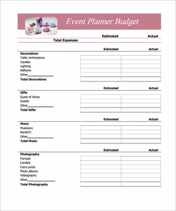 Free printable business budget templates and free printable expense sheet