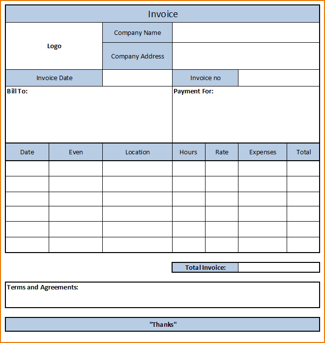 Free Printable Construction Invoice Template And Free Invoice Format In Excel