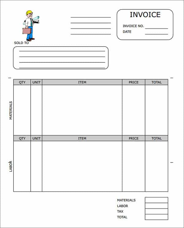 General Contractor Invoice And Microsoft Excel Invoice Template