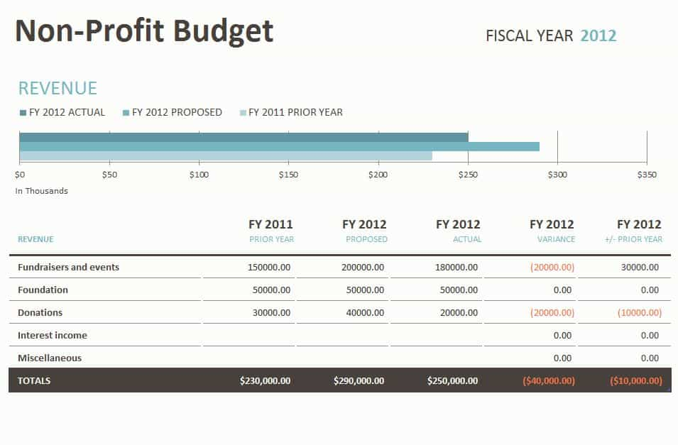 Excel Templates For Non Profit Accounting And Financial Reporting Package Templates
