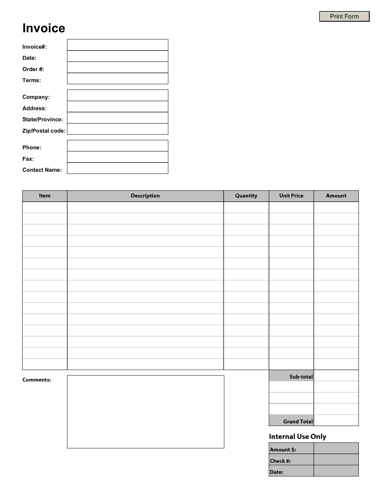 Excel Templates For Scheduling Employees And Free Invoice Templates To Fill In
