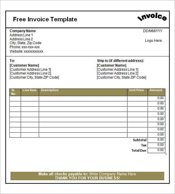 Excel Templates For Staff Scheduling And Medical Bill Invoice Template Free