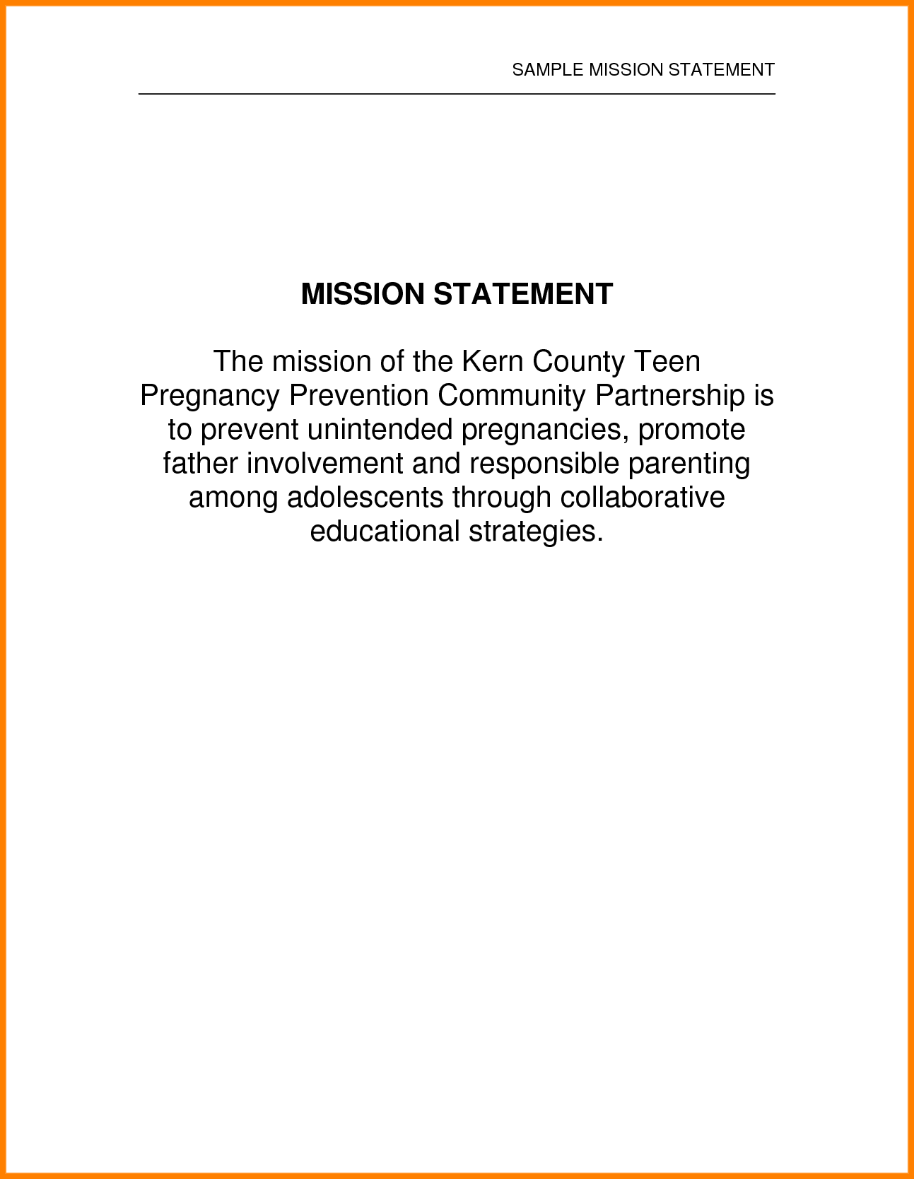 Sample Value Statement For Financial Advisor And Financial Consultant Mission Statement