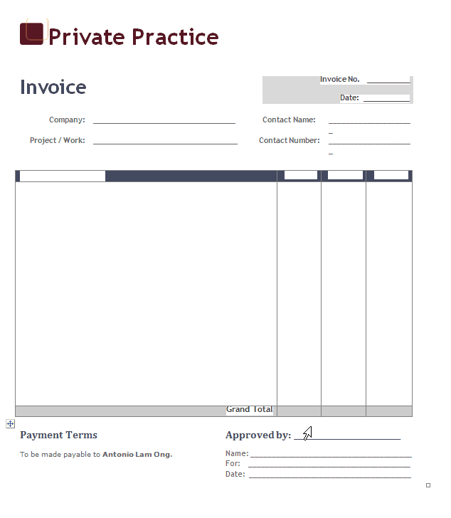Simple Invoice Template And Creating Invoices For Small Business