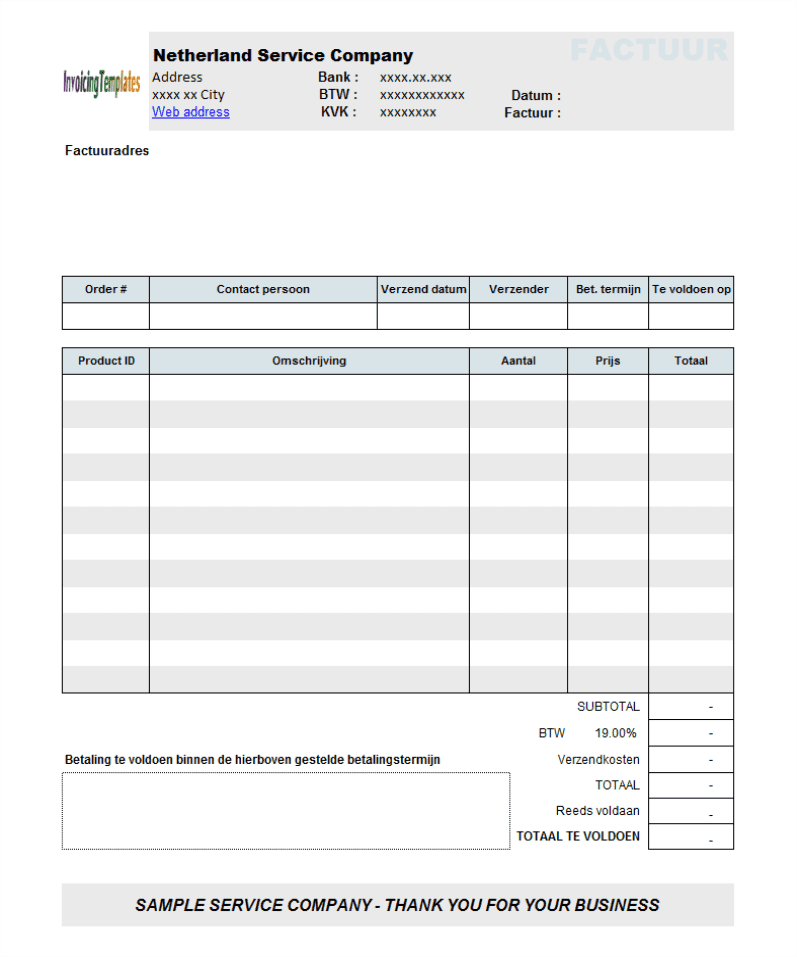Sourceforge Openoffice And Google Sheets Invoice Template