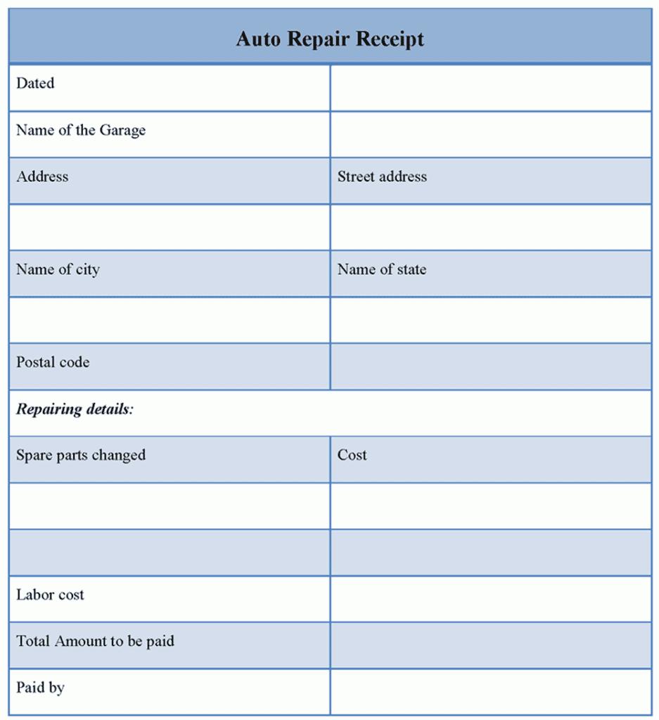 Auto Body Repair Estimate Template And Auto Repair Estimate Template Excel