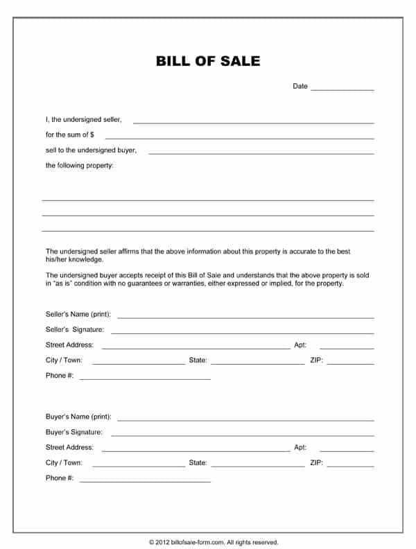 Bill Of Sale Template For A Horse And Bill Of Sale Template For Horse Trailer