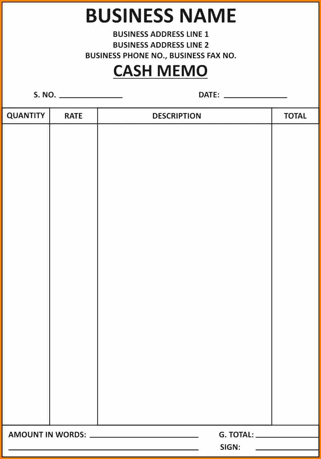 Billing Invoice Template Word Download And Computer Bill Format In Word
