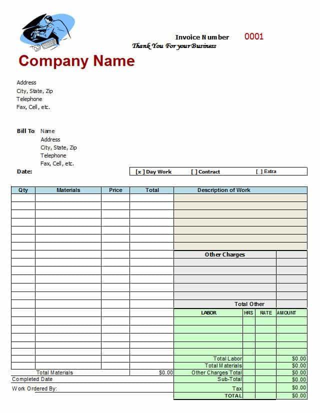 Free Auto Body Repair Estimate Template Forms And Auto Mechanic Invoice Template