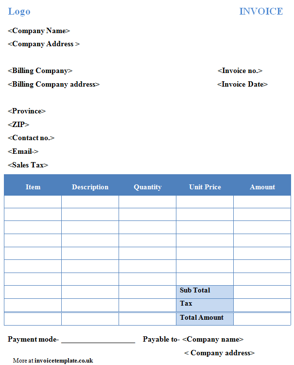 Free Billing Invoice Template Microsoft Word And Simple Invoice Template Excel