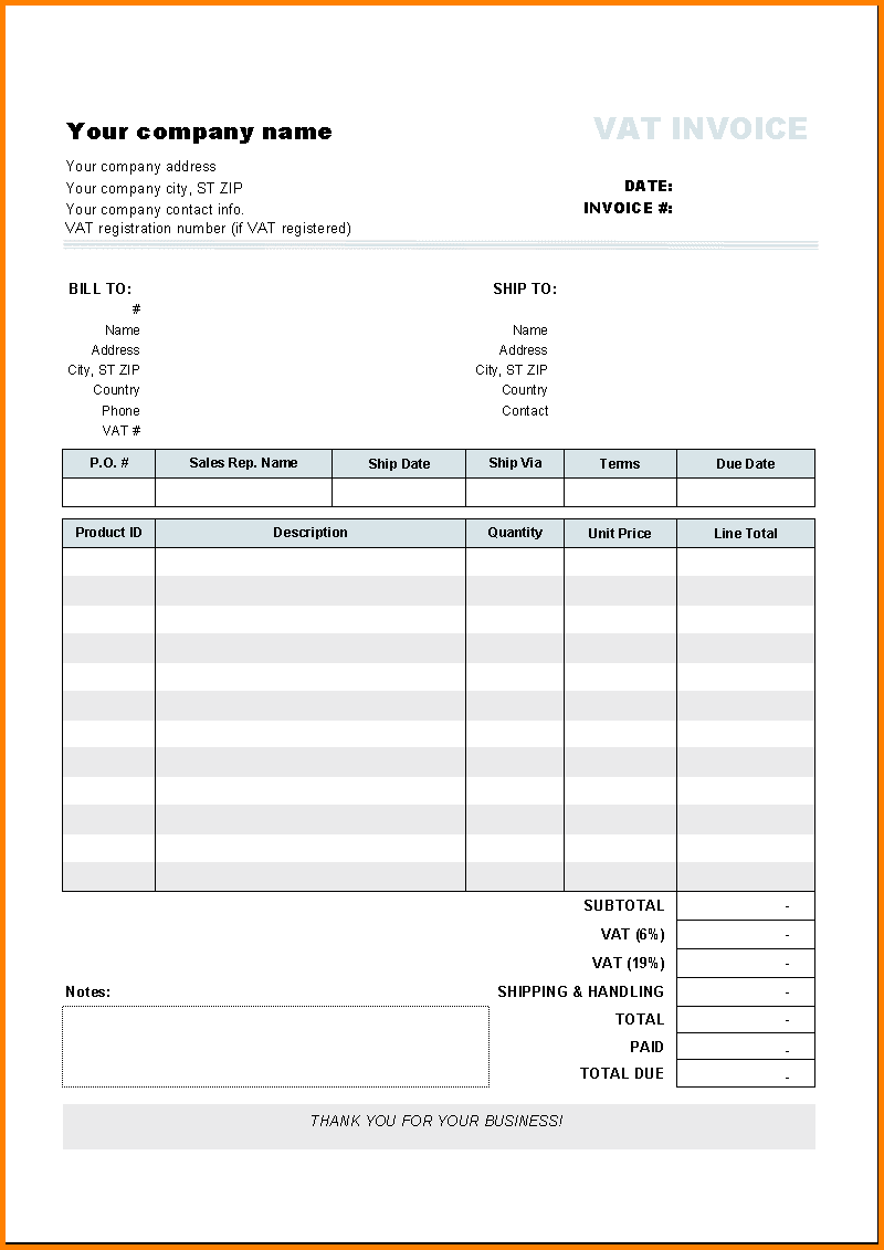 Free Billing Invoice Template Word And Gst Bill Invoice Format Word