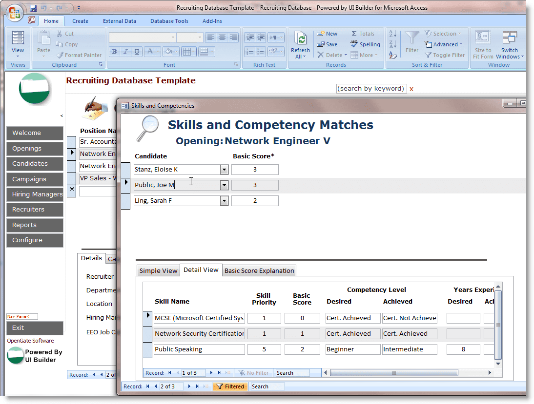 Free Human Resources Excel Templates And Record File Management Database Template For Microsoft Access