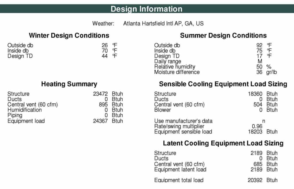 HVAC Load Calculation App And Air Conditioning Heat Load Calculation Sheet