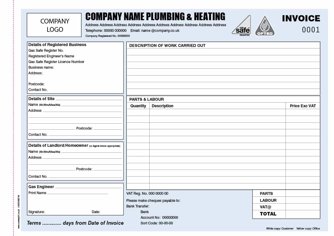 How To Write Up A Plumbing Invoice And Plumbing Service Invoice